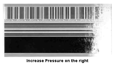Incorrect printhead pressure