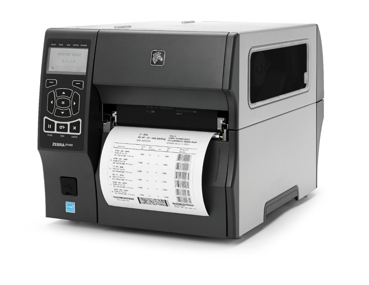6 inch wide ZT420 thermal label printer