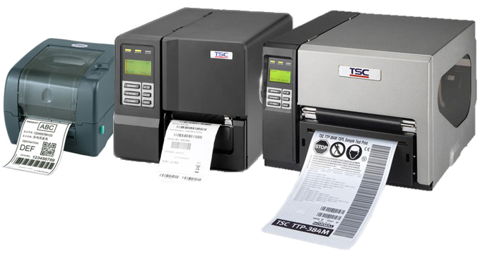 Industrial and desktop barcode label printers