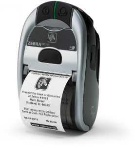 Typical portable label printer