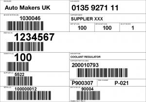 Odette label for automotive industry