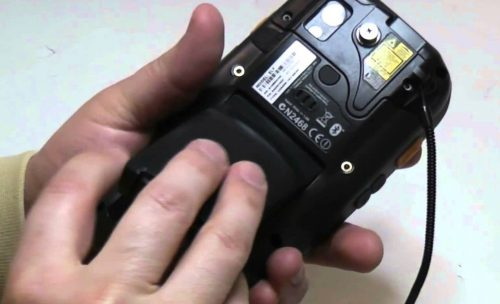 Removing a Barcode Scanner battery