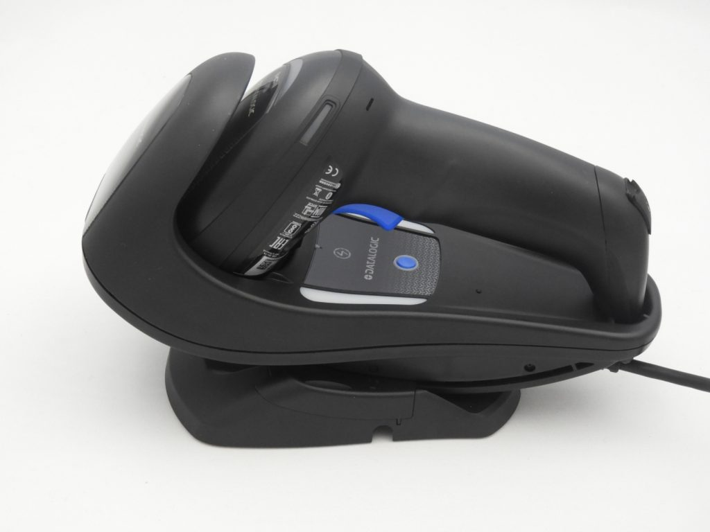 Gryphone Cordless scanner in stand