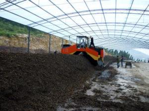 Industrial composting