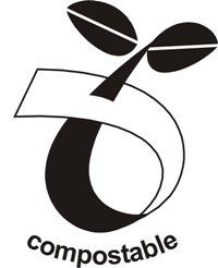 Compostable logo displayed on Biodegradable labels