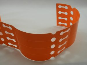 Orange Plastic Loop Lock Labels